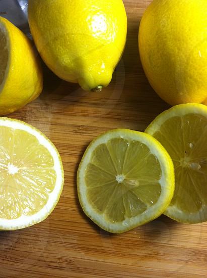Lemons and lemon wheels photo
