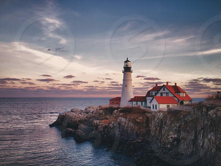 Portland Maine Portland Headlight Lighthouse New England photo