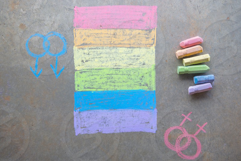 multicolored chalk writing photo