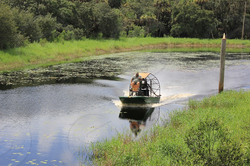 Florida airboat photo