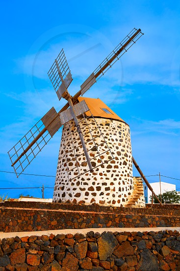 Lajares windmill Fuerteventura at Canary Islands of Spain photo