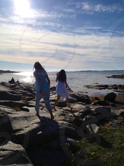 Running to the sea photo