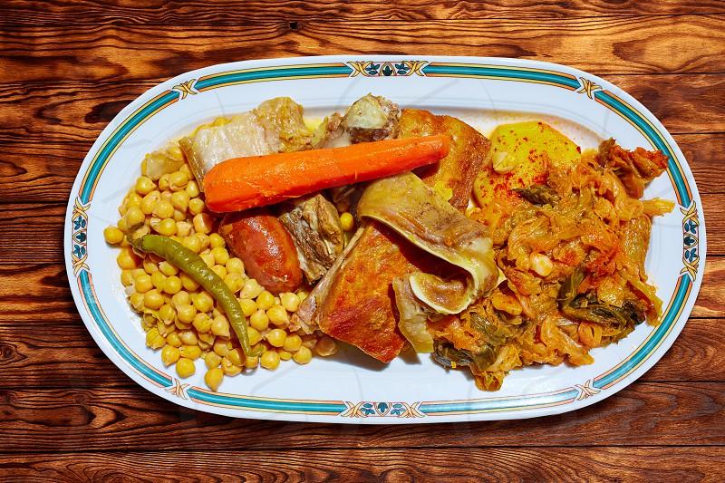 Cocido Maragato recipe of Biezo Leon in Spain pilgrims delice in Saint James Way photo