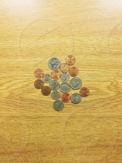United states change pile photo