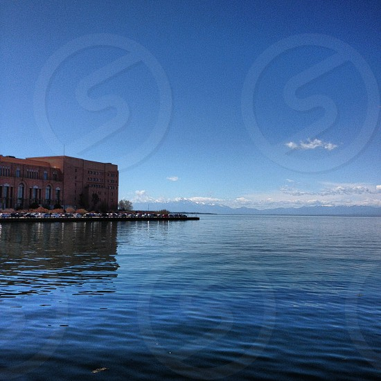 Viewing Olympus Mt from Thessaloniki's port photo