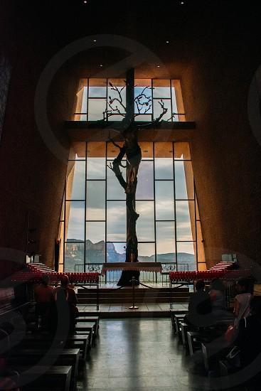 Interior of Chapel of the Holy Cross Sedona AZ. photo