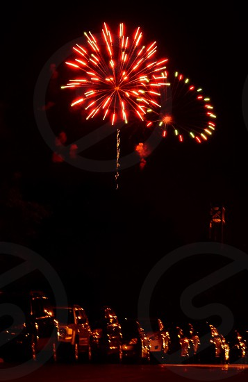 Ringed fireworks photo