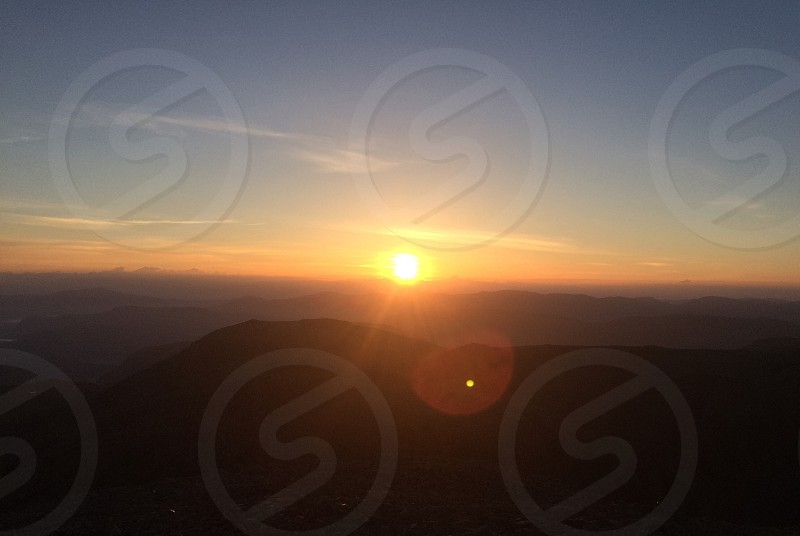 Sunrise at scafell pike photo