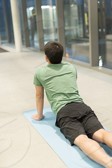 Millennials practicing yoga and other wellness practices photo