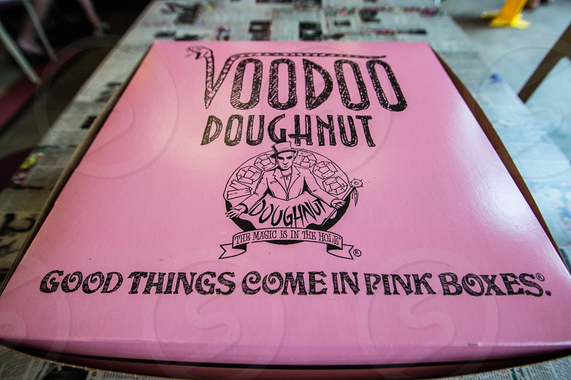 voodoo doughnut good things come in pink boxes photo