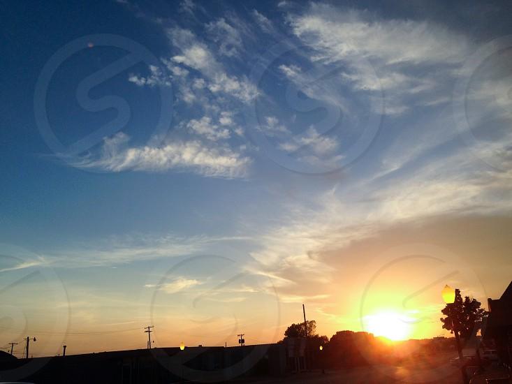 Sunset Evening Twilight Sky Clouds photo