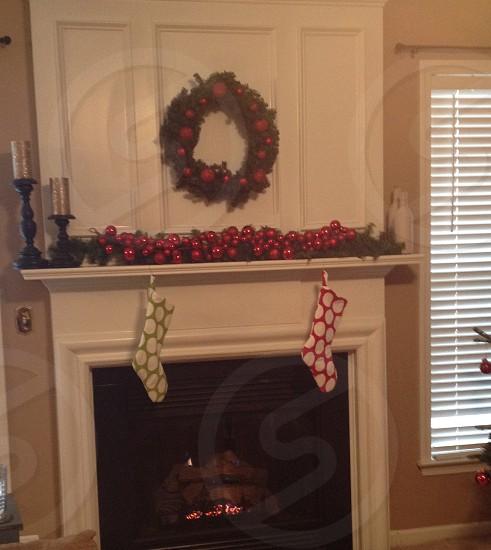fireplace Christmas stockings photo