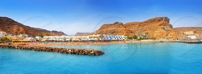 Gran canaria puerto de mogan beach in Canary Islands photo