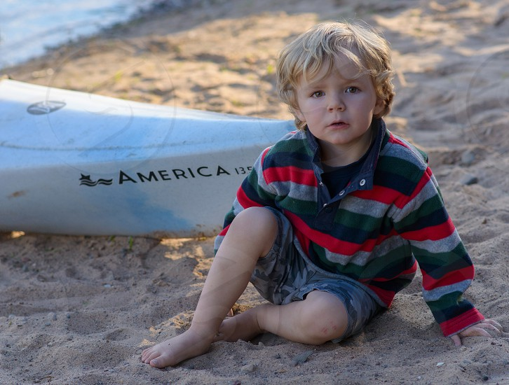 Boy On A Beach photo