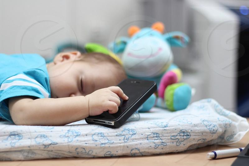 baby's blue shirt photo