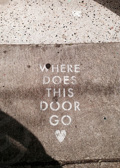 Where does this door go?  photo