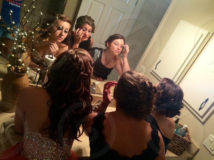 Beautiful Girls Getting Ready photo