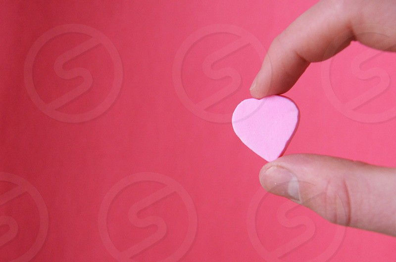 pink heart decorative photo