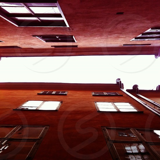 Classic look-up in the Old Town of Stockholm photo
