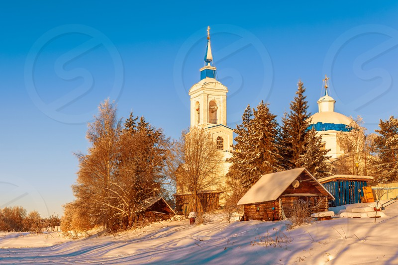 Church of the Assumption of the Blessed Virgin in Pogost Sable village. Novgorod Oblast. Russia photo