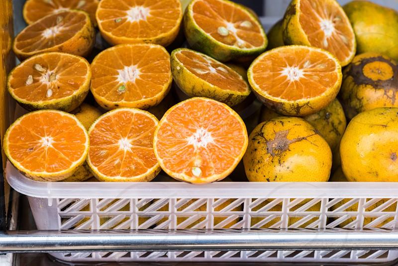 Street food - oranges photo