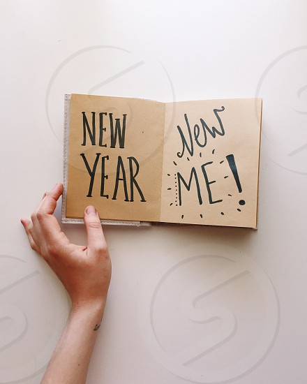New year be kind #newyear #2016 #goals #new #me #plans #book #typography #minimalist  photo