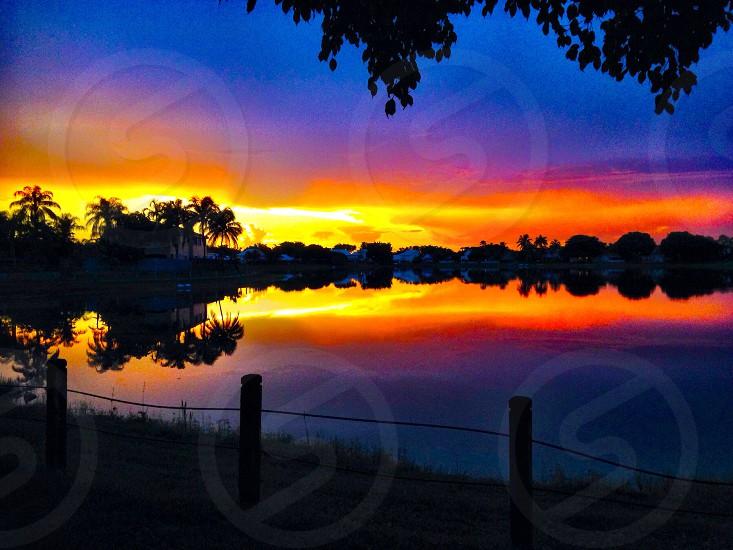 Sunset over Cutler Bay Miami photo