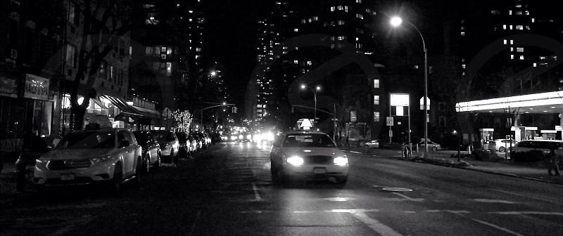 NYC Taxi B&W Black&White Traffic photo
