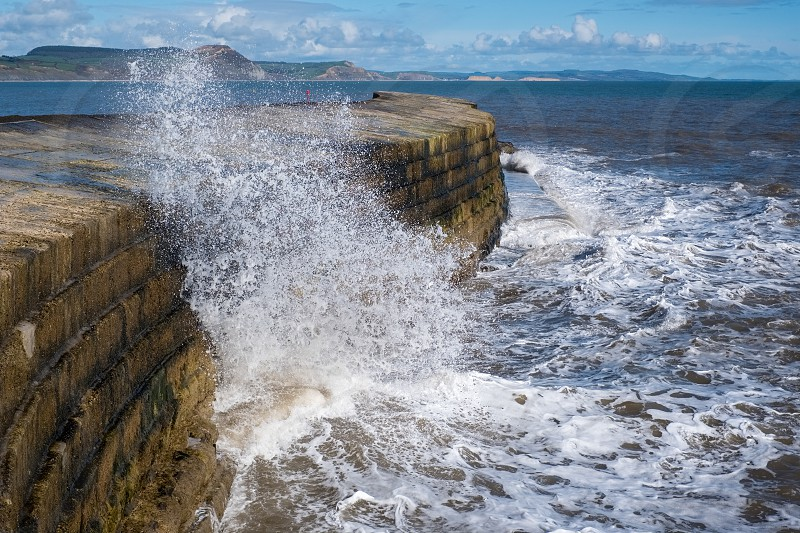 The Cobb Harbour Wall in Lyme Regis photo