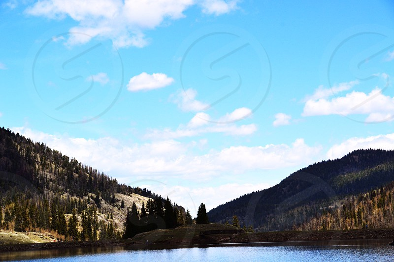Beautiful Coloradan mountains. photo