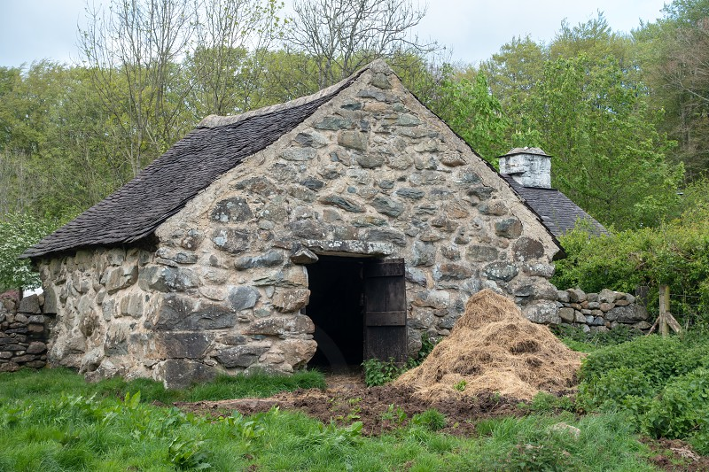 CARDIFF UK - APRIL 27 : Stone Barn at St Fagans National Museum of History in Cardiff on April 27 2019 photo