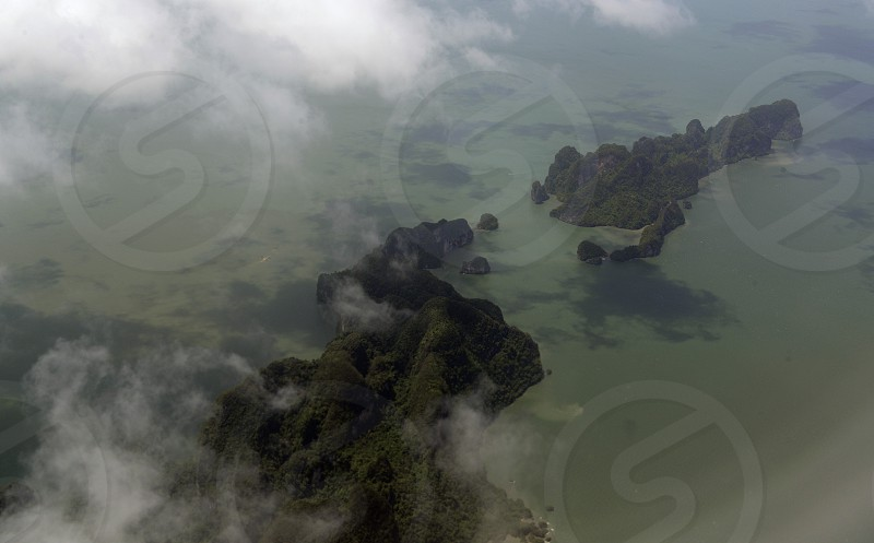 the landscape of the Ao Phang Nga Nationalpark on the Phuket Island in the south of Thailand in Southeastasia. photo
