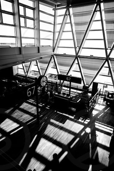 Shadowplay at the airport photo