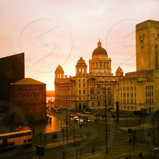 City sundown photo