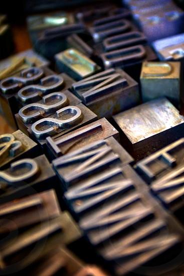 Metal Typeset Letters photo