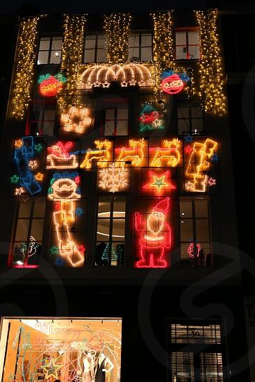 Christmas decoration London. photo