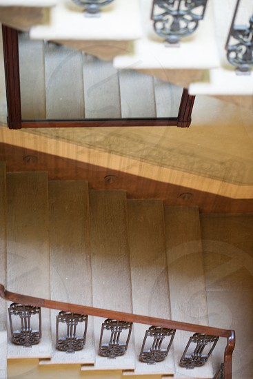 stairs mirror reflection photo