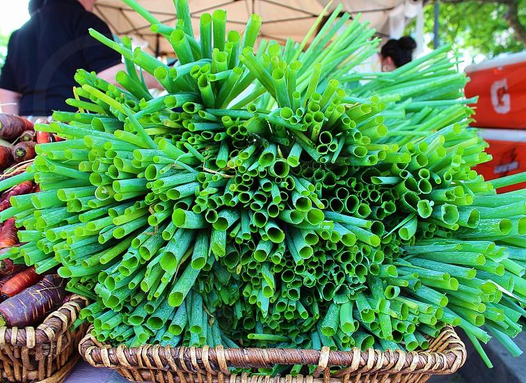 Farmers Market vegetables produce nature's symmetry photo