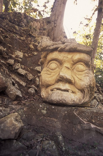 The Ruins of Copan in Honduras in Central America photo