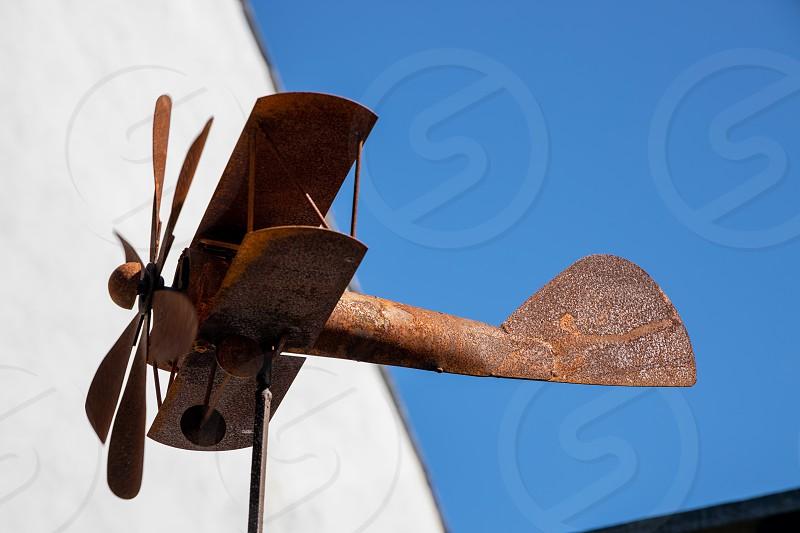 ST DAVID'S PEMBROKESHIRE/UK - SEPTEMBER 13 : Rusting weathervane at St David's in Pembrokeshire on September13 2019 photo
