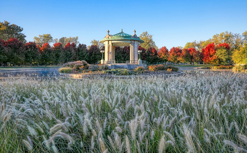 The bandstand located in Forest Park St. Louis Missouri. photo