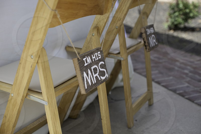 Mr and Mrs Chairs photo