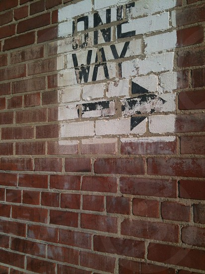 Architecture One Way Sign photo
