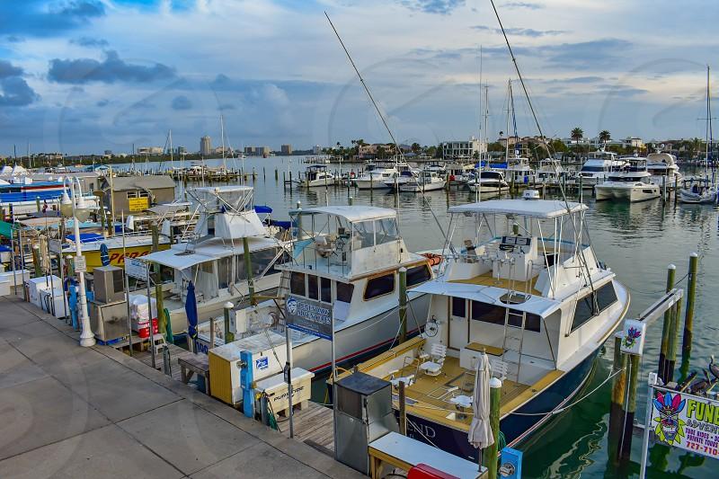Clearwater Beach Florida. January 25 2019. Aerial view of Clearwater Beach Marina in Gulf Coast Beaches (2) photo