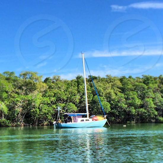 Sailboat water ocean florida keys  photo