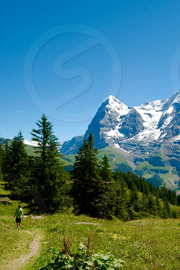 Near Murren Switzerland with Eiger in the background. photo