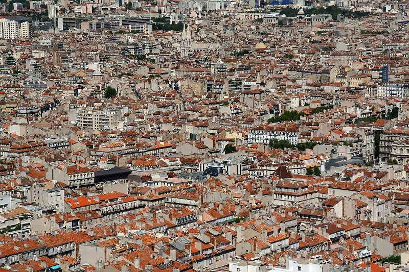 city landscape roofs houses tiled town megalopolis urban architecture cityscape view marceille france europe outdoors photo
