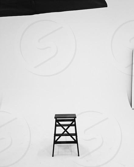 black chair in the studio photo