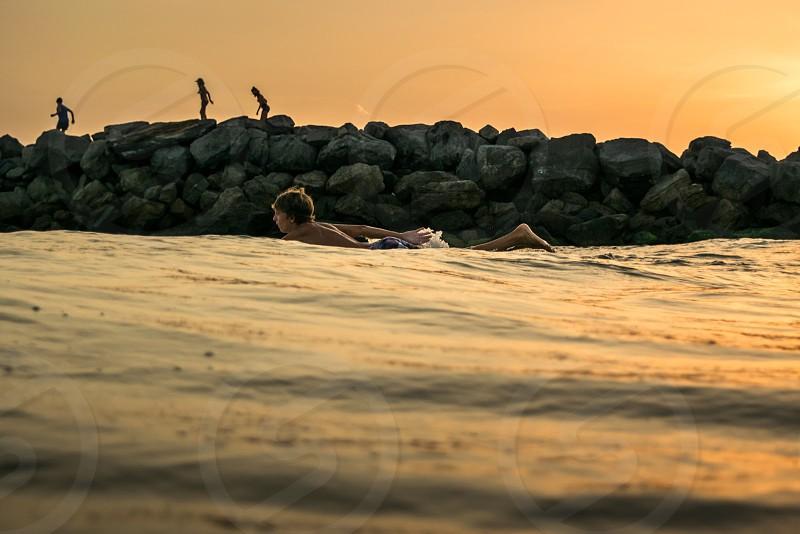 Sunset surf in Destin photo