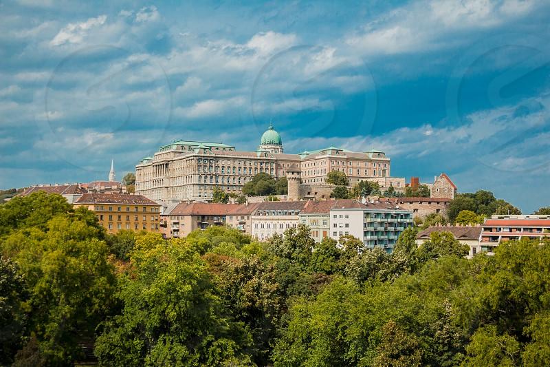 The Buda Castle. Budapest Hungary. old royal castle. photo